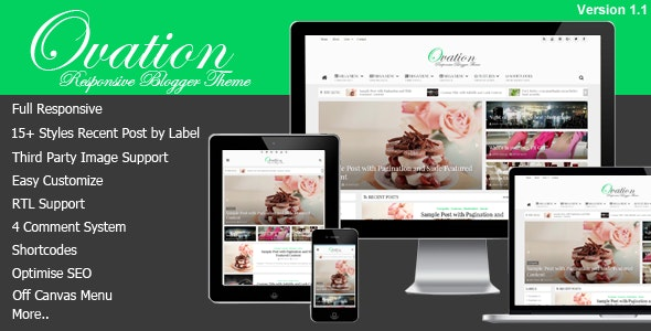 Ovation News and Magazine Blogger Template Free Download.