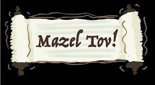 Mazel Tov on a scroll