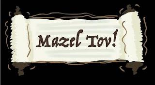 Mazel Tov on a scroll