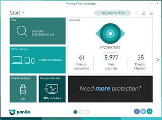 برنامج حماية الاجهزة من الفيروسات والملفات الخبيثة باندا Panda 2020