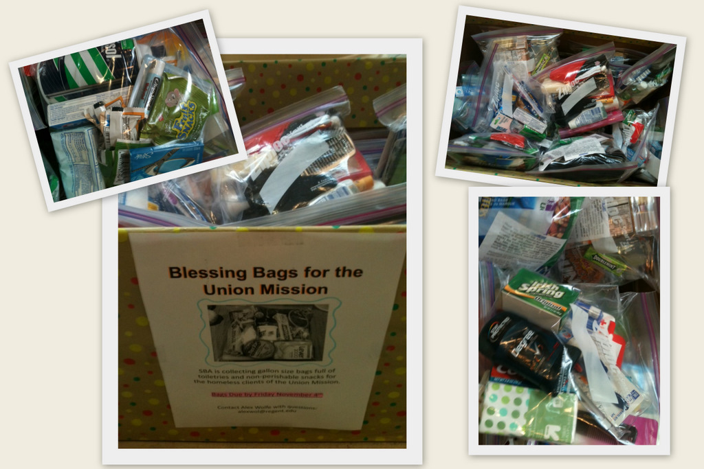 """Regent Law News: Student Bar Association Collects """"Blessing Bags"""