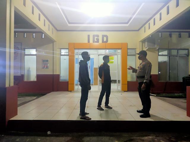Lagi, Anggota Polsek Kahayan Hilir Laksanakan Patroli Malam Ke RSUD Pulang Pisau