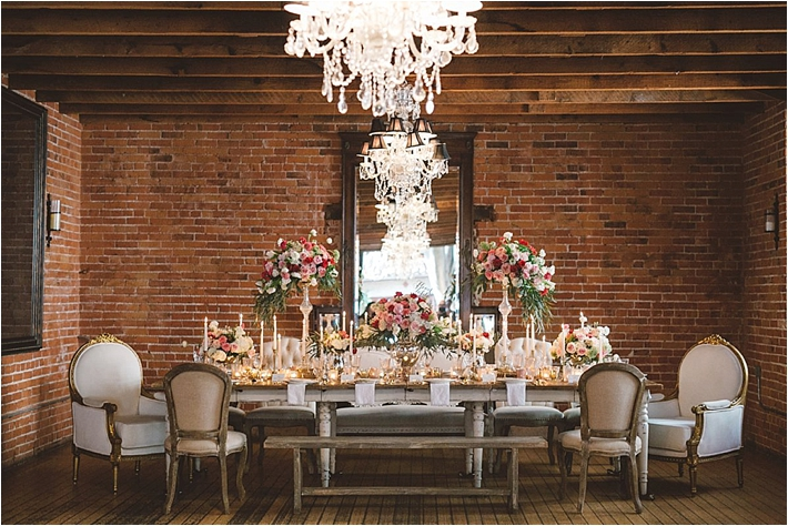 Romantic tablescape with candles