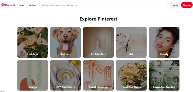 Pinterest: image-based search engine