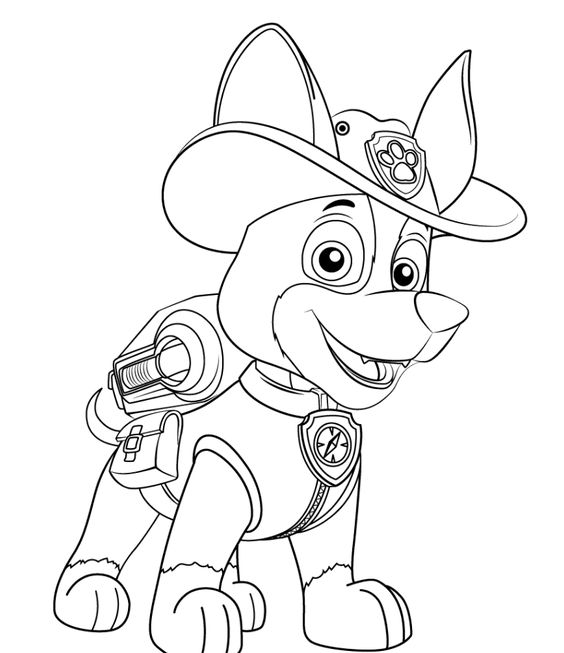 Paw patrol coloring pages 24