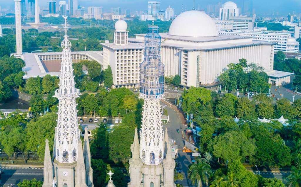 Jokowi Menyetujui Pembuatan Terowongan Silaturahmi Masjid Istiqlal Dengan Gereja Katedral