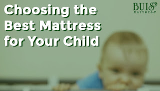 A child next to the words 'Choosing the Best Mattress for Your Child'