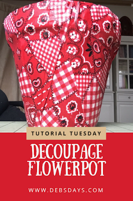 DIY Fabric Covered Flowerpot Craft Project
