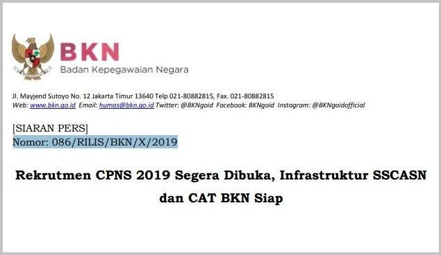 pengumuman CPNS 2019