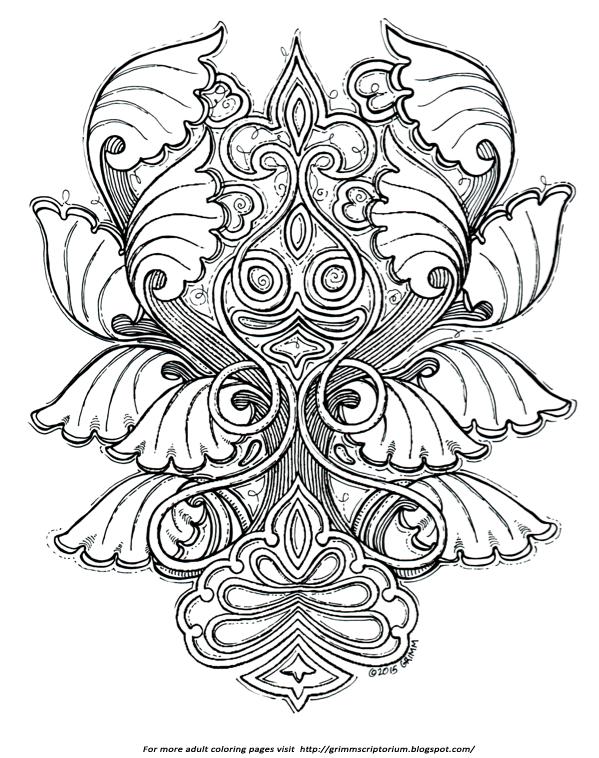 Fleur de lis mandala coloring pages coloring pages for Fleur de lis coloring page