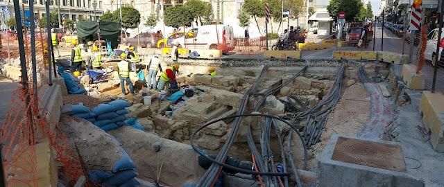 Tram works to cover classical era ruins in Athenian port of Piraeus