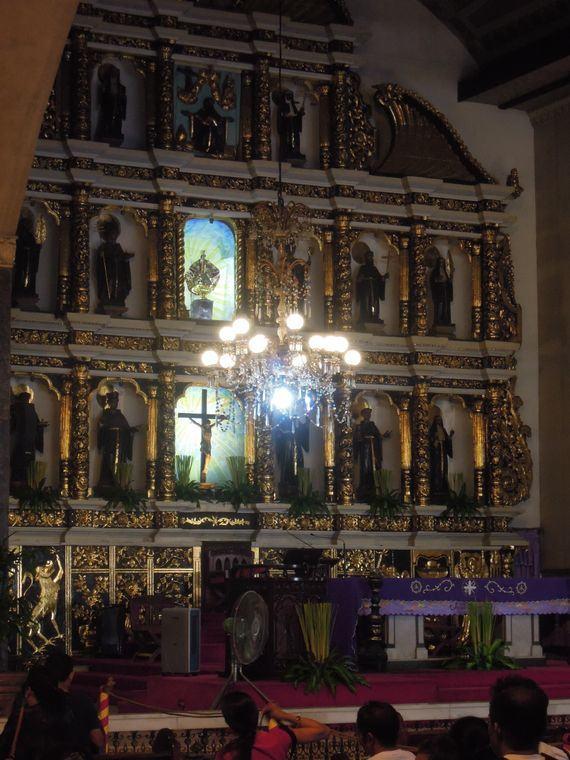 The altar of Sto. Nino Shrine in Cebu City