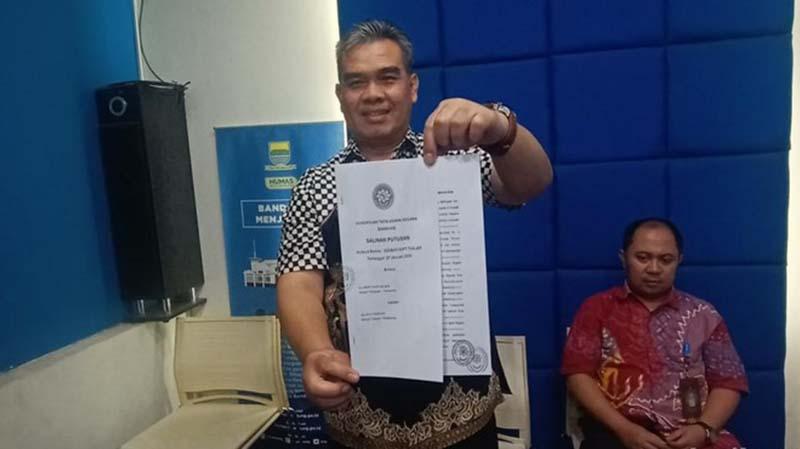 Sengketa Jabatan Sekda, Pemkot Bandung Menang di Tingkat Banding