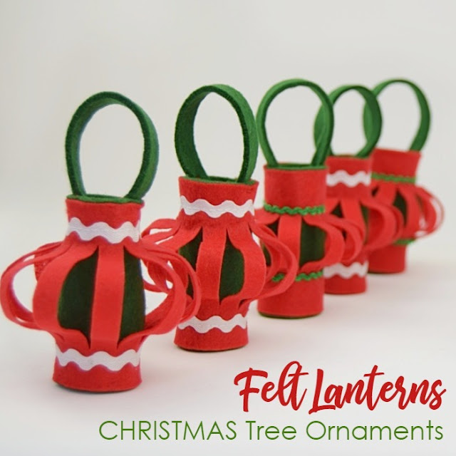 Diy Christmas ornaments - felt lanterns