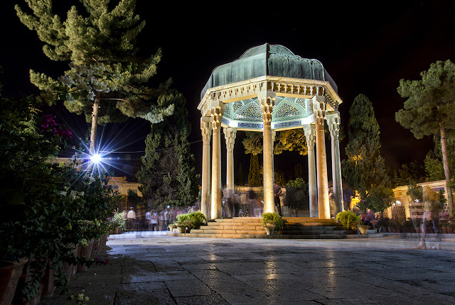 Hafez, born 1320A.D. in Shiraz was the greatest Sufi master and poet in Persian history.