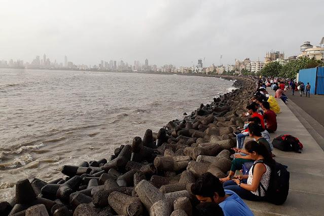 Boulders at Marine Drive Mumbai