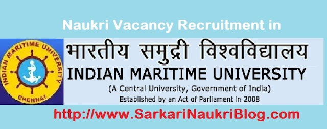 Naukri Vacancy Recruitment in IMU Chennai