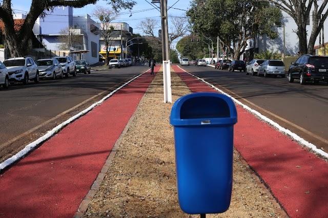 Mobilidade: Prefeitura conclui implantação de ciclovia da Avenida Andradina