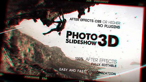 قالب افتر افكت مجاني - مشروع سلايد شو ثريدي للصور - CS5 فأعلى
