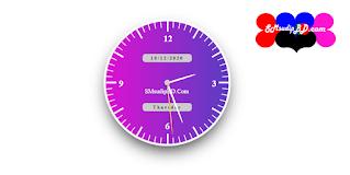 Html , css and javascript Clock Widget