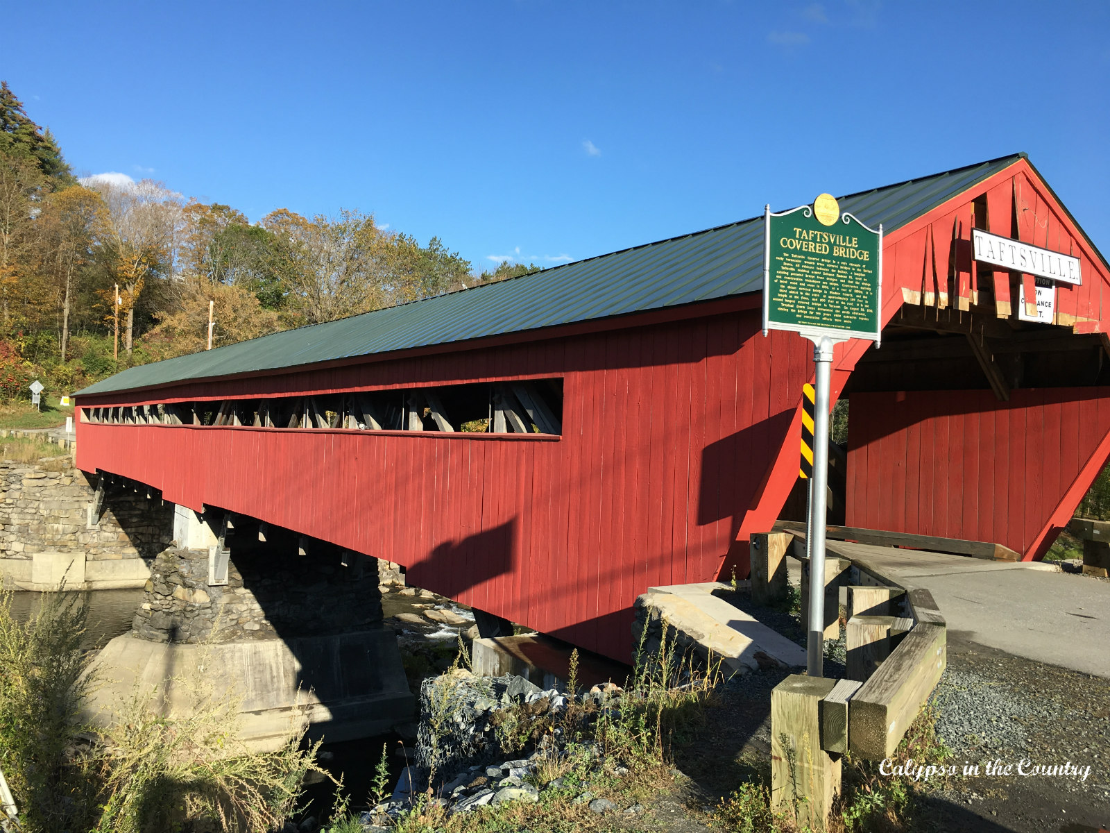 Taftsville Covered Bridge in Vermont