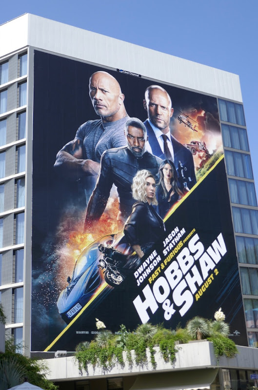 Fast Furious Present: Hobbs Shaw movie billboard