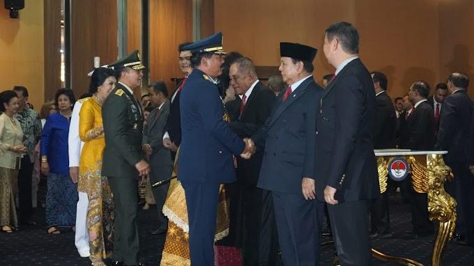 Panglima TNI Hadiri Sertijab Menteri Pertahanan