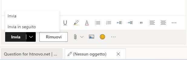 Previsioni di testo e 'Invia in seguito' disponibili su Outlook.com