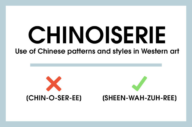 Chinoiserie chic sheen wah zuh ree for Elle pronunciation