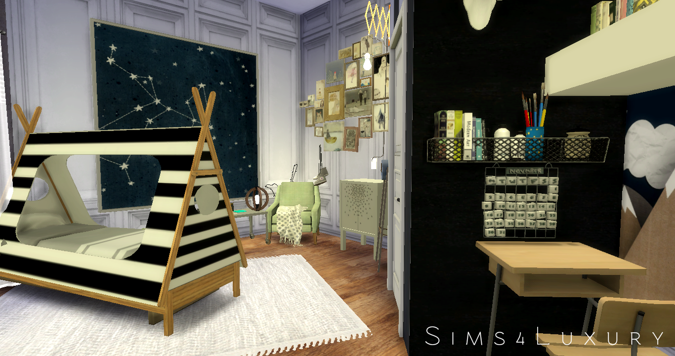 My sims 4 blog boy 39 s bedroom room by sims4luxury for 4 bedroom