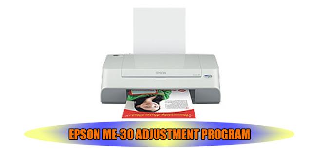 EPSON ME-30 PRINTER ADJUSTMENT PROGRAM