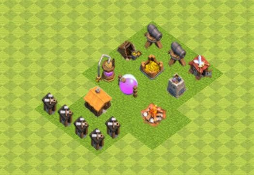 Base COC TH1 Farming