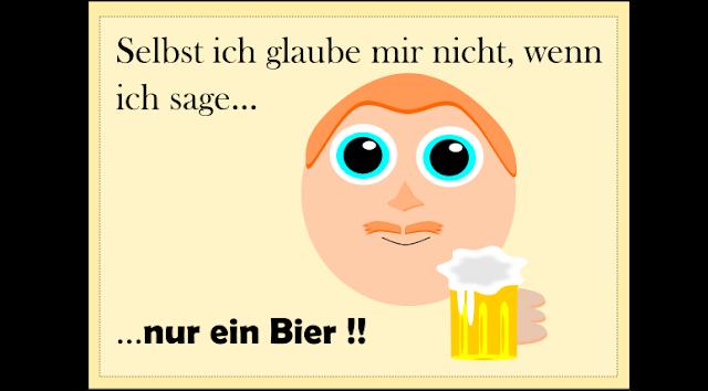 Lustiges Spruchbild zum lachen- Lüge - Nur ein Bier