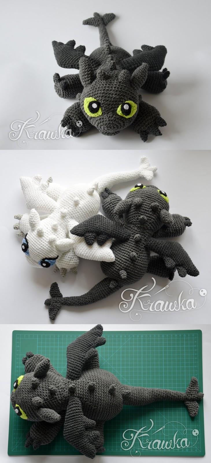 Vincent the Dragon | Free Crochet Pattern Amigurumi | Hooked by Kati | 1600x730