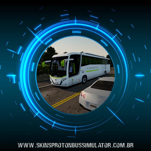 Skin Proton Bus Simulator Road - Busscar Vissta Buss MB O-500 RS BT5 Viação Garcia