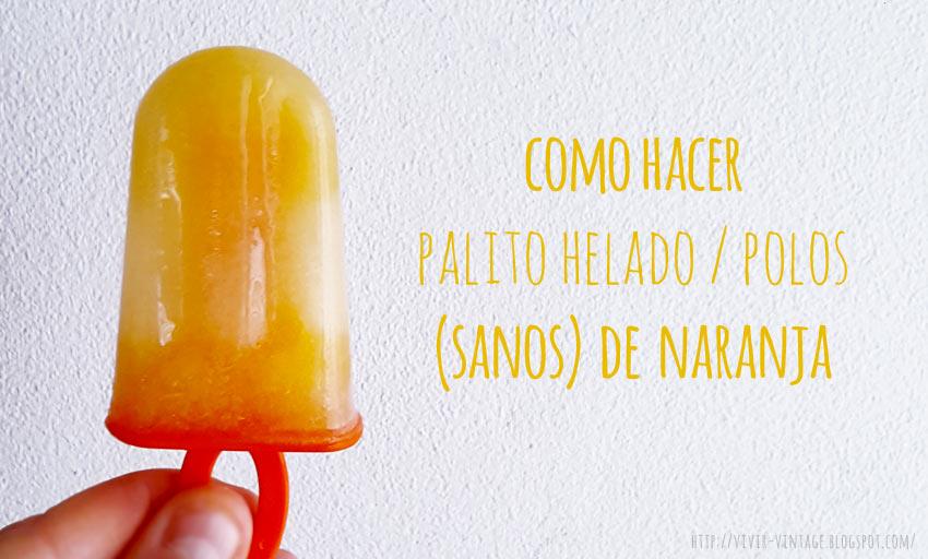palito helado naranja