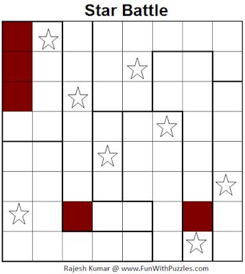 Star Battle (Mini Puzzles Series #21) Solution