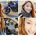 Japanese old man biker uses faceapp to become young beautiful lady rider influencer