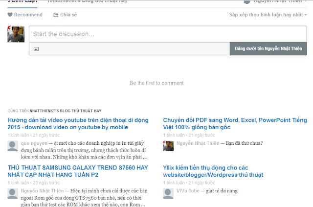 Thêm hệ thống comment Disqus vào Blogger Blogspot