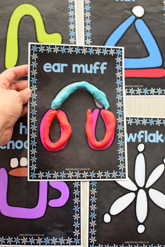 Winter Theme Learning Pack: Playdough Mats