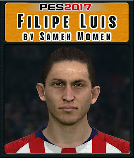 PES 2017 Faces Filipe Luis by Sameh Momen