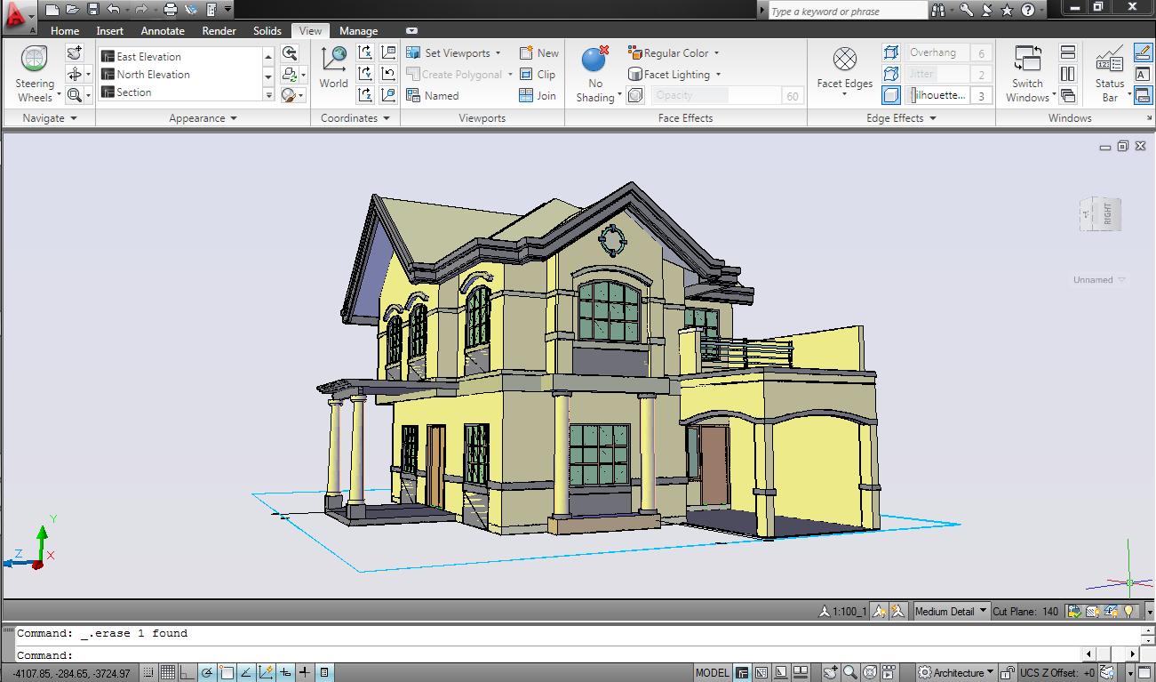 94 Desain Rumah 3d Dengan Autocad