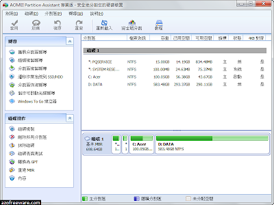分區助手 AOMEI Partition Assistant