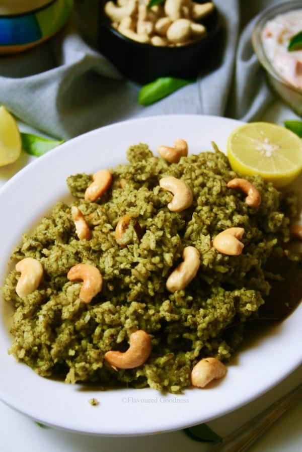 how to make Palak Pulao Recipe | Spinach Rice | Palak Rice