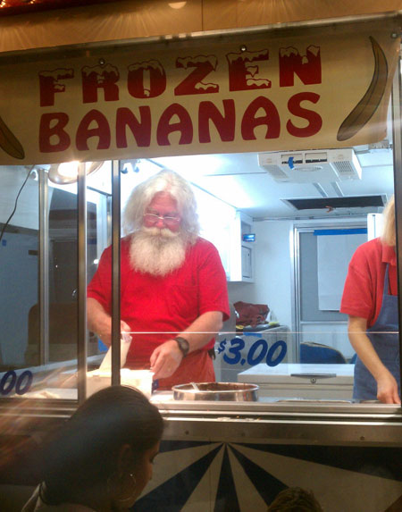you know the economy is bad when santa has to work two jobs