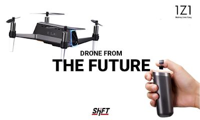 Shift IZI Nano Drone Camera with 5MP FHD 1080p, 17 Min Fly Time, Autonomous Follow Me Mode