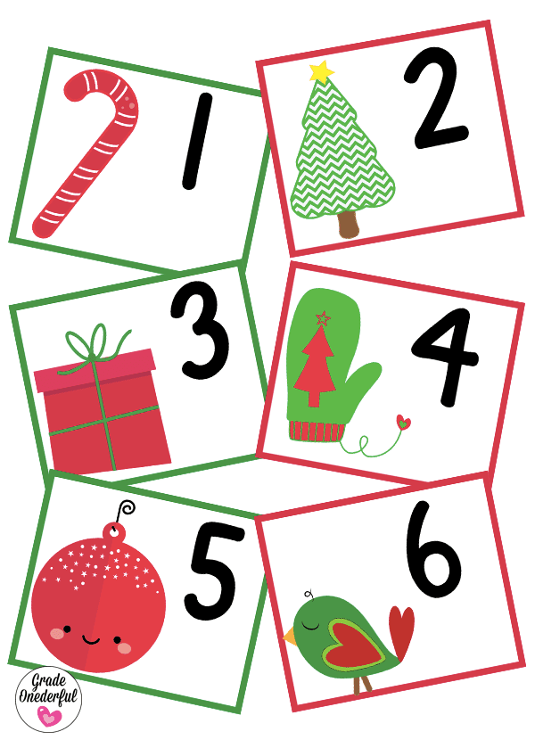 Free pocket chart calendar cards for December. These cards will look festive and cute in your classroom!