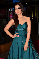 Raashi Khanna in Dark Green Sleeveless Strapless Deep neck Gown at 64th Jio Filmfare Awards South ~  Exclusive 010.JPG