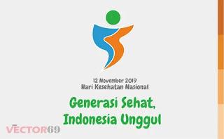 Logo Hari Kesehatan Nasional (HKN) 12 November 2019: Generasi Sehat, Indonesia Unggul - Download Vector File AI (Adobe Illustrator)