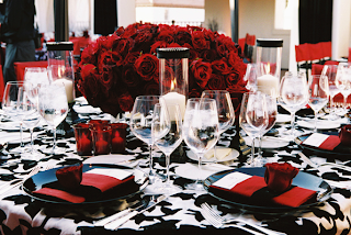 Red Silver White Black Wedding Inspirations